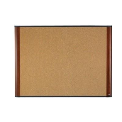 3M C7248MY 72 x 48 Widescreen Cork Board Mahogany-Finish Frame