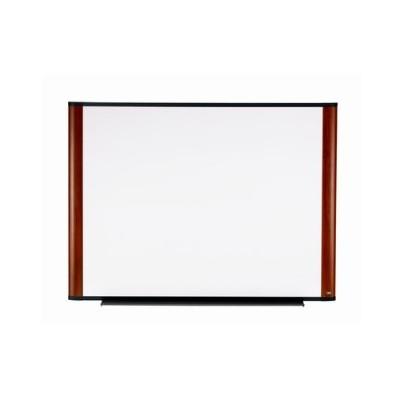 3M M7248FMY Melamine Dry Erase Board  Mahogany Finish Frame 72 in x 48 in