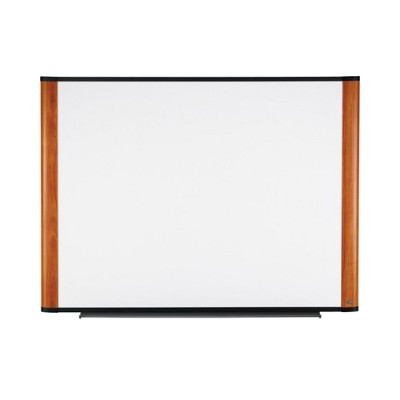 3M M7248LC Melamine Dry Erase Board  Lt Cherry Finish Frame  72 in x 48 in
