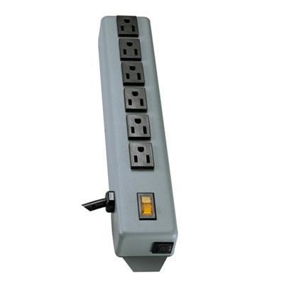 TrippLite 6SP Waber Power Strip Metal 5-15R 6 Outlet 5-15P 6' Cord - Power distribution strip - 15 A - AC 120 V - input: NEMA 5-15 - output connectors: 6 (NEMA