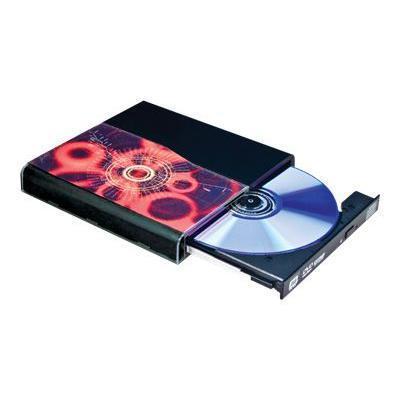 Hi-Val IDVD8PB2 IDVD8PB2 - Disk drive - DVD±RW (+R DL) - 8x - USB - external - 5.25 Slim Line - black