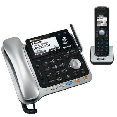 AT&T TL86109 2-Line Corded / Cordless Connect to Cell Answering System with Caller ID / Call Waiting
