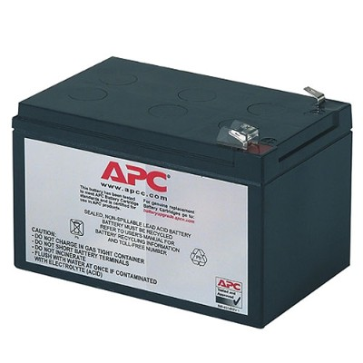 APC RBC4 Replacement Battery Cartridge #4 - UPS battery lead acid - black - for Back-UPS 650VA  Back-UPS Pro 650  650VA  Smart-UPS 620  620VA  Smart-UPS v/s 650