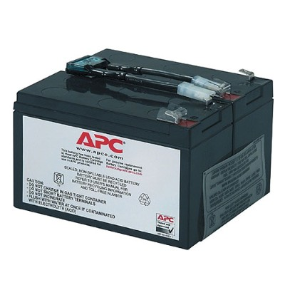 APC RBC9 Replacement Battery Cartridge #9 - UPS battery lead acid - black - for P/N: SU700RM  SU700RMNET