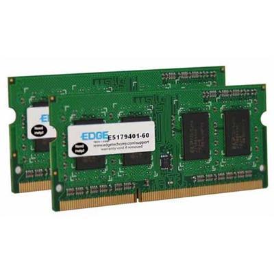 Edge Memory PE22643502 2GB (2X1GB) PC3-8500 DDR3 SDRAM SODIMM 204-pin Memory Module