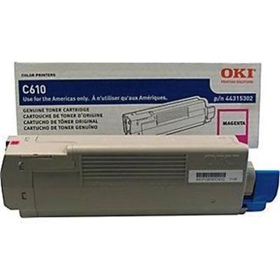 Oki 44315302 Magenta - original - toner cartridge - for C610cdn  610dm  610dn  610dtn  610n