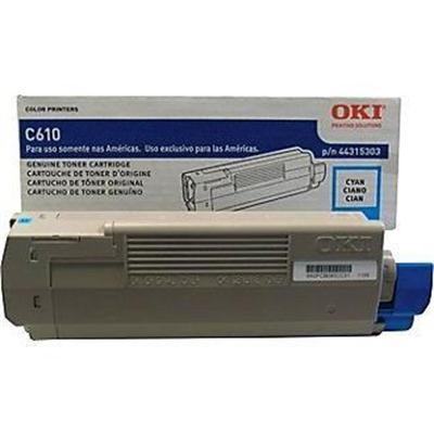 Oki 44315303 Cyan - original - toner cartridge - for C610cdn  610dm  610dn  610dtn  610n