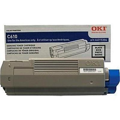 Oki 44315304 Black - original - toner cartridge - for C610cdn  610dm  610dn  610dtn  610n