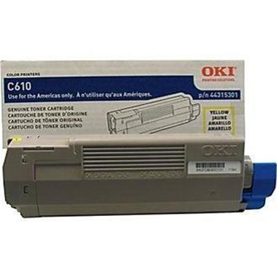 Oki 44315301 Type - Yellow - original - toner cartridge - for C610cdn  610dm  610dn  610dtn  610n