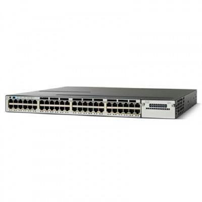 Cisco WS-C3750X-48P-S Catalyst 3750X-48P-S - Switch - managed - 48 x 10/100/1000 (PoE) - rack-mountable - PoE