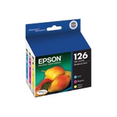 Epson T126520 126 Multi-Pack - High Capacity - color (cyan  magenta  yellow) - original - ink cartridge - for Stylus NX330  NX430  WorkForce 435  520  545  63X