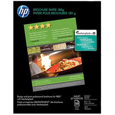 HP Inc. C6817A Inkjet Glossy Brochure and Flyer Paper - 8.5 x 11 in (50 sheets)