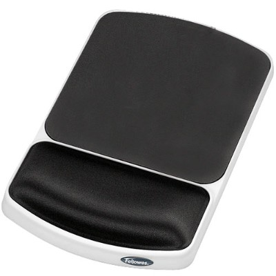 Fellowes 91741 Gel Wrist Rest and Mouse Pad - Graphite/Platinum
