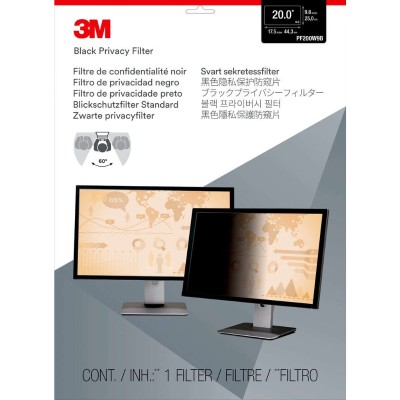 3M PF200W9B Privacy Filter for Widescreen Desktop LCD Monitor 20.0