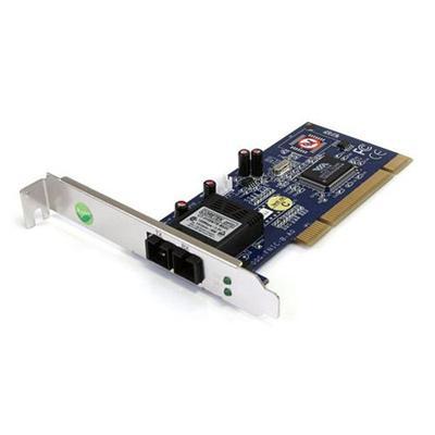 StarTech.com PCI100MMSC 100Mbps Full/Low Profile Ethernet Multi Mode SC Fiber PCI NIC Card 2km