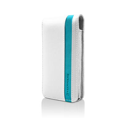 Accent for iPhone 4 - White/Turquoise