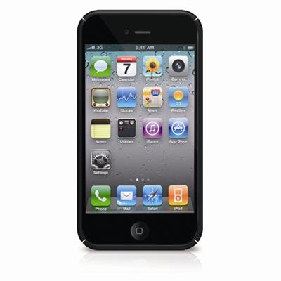 MetroBP4 Snap-On Protective Case for iPhone 4 - Black