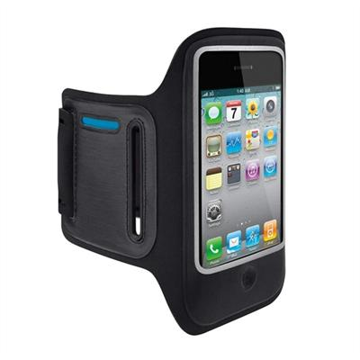 Belkin F8Z610TT DualFit Armband - Arm pack for cell phone - neoprene - for Apple iPhone 4