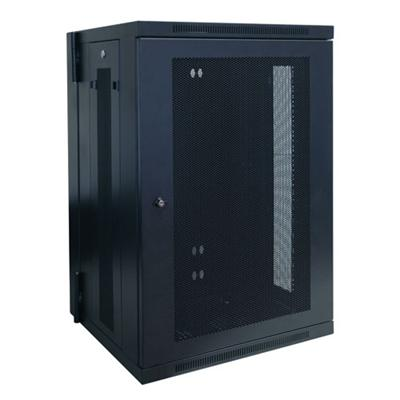 TrippLite SRW18US 18U Wall Mount Rack Enclosure Cabinet Wallmount Hinged with Doors & Sides 200lb Capacity