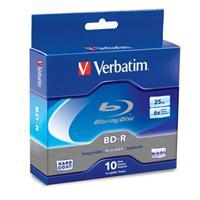 Verbatim Blu-Ray Recordable BD-R 25GB 6X 10 Pack Spindle Box