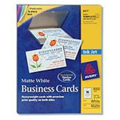 Avery Dennison 8471 Ink Jet Printer Business Cards