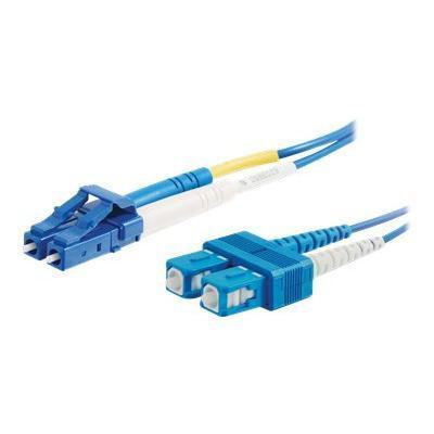 Cables To Go 33348 5m LC-SC 9/125 OS1 Duplex Single-Mode PVC Fiber Optic Cable - Blue - Patch cable - LC single-mode (M) to SC single-mode (M) - 16.4 ft - fiber