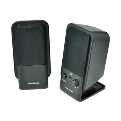 Gear Head SP2600ACB Powered 2.0 Desktop - Speakers - for PC
