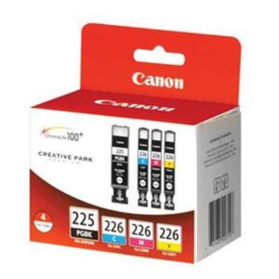 Canon 4530B008 PGI-225 Pigment Black  CLI-226 Cyan  Magenta  Yellow
