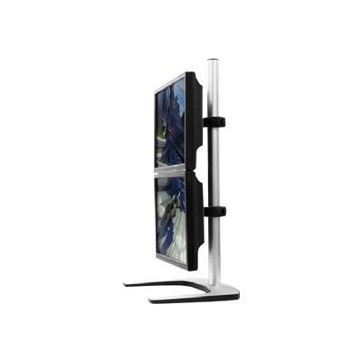 Atdec VFS-DV Visidec Freestanding Double Vertical - Stand for 2 LCD displays - aluminum  steel - silver - screen size: 12 - 24 - desktop stand