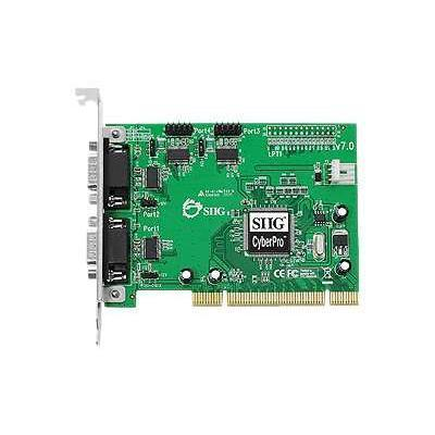 SIIG JJ-P45012-S7 CyberSerial 4S 550 PCI - Serial adapter - PCI - RS-232 - 4 ports