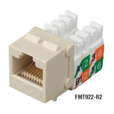 Black Box FMT922-R2-25PAK GigaBase 2 CAT5e Jacks - Modular insert - ivory - 1 port (pack of 25 )