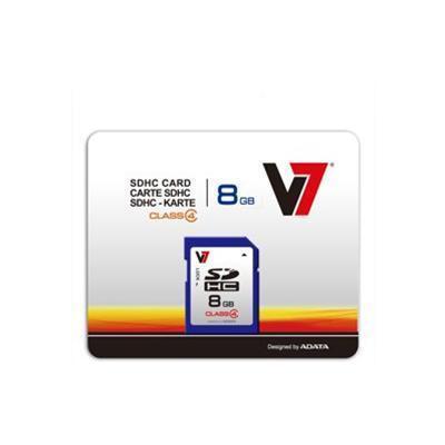 V7 VASDH8GCL4R-1N 8GB Secure Digital SDHC Class 4 Flash Memory Card