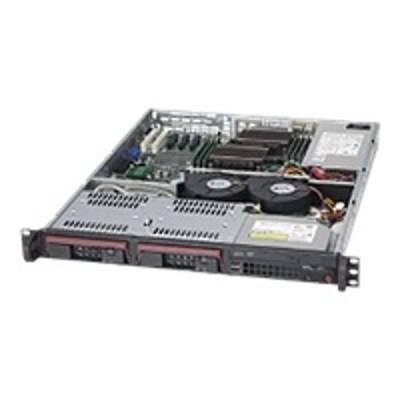 Super Micro CSE-811TQ-350B Supermicro SC811 TQ-350B - Rack-mountable - 1U - ATX - SATA/SAS - hot-swap 350 Watt - black - USB