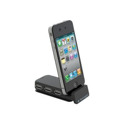 PocketHub 3-Port USB and Sync - Phone charging stand + power adapter