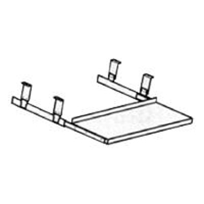HON 4028P Underdesk Oversized Keyboard Platform/Mouse Tray