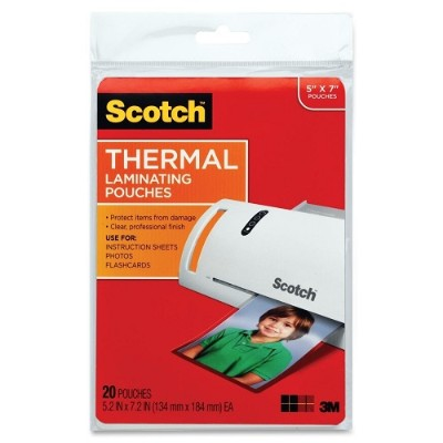 3M TP5903-20 Thermal Pouches  Photo Size  5.31 in x 7.28 in 20/pack
