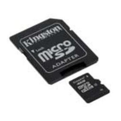 Kingston Digital SDC4/32GB Flash memory card (microSDHC to SD adapter included) - 32 GB - Class 4 - microSDHC