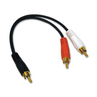 Cables To Go 03161 Value Series 6in Value Series One Rca Mono Male To Two Rca Stereo Male Y-cable - Audio Adapter - 26 Awg - Rca (m) To Rca (m) - 6 In - Black