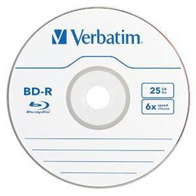 Verbatim 97457 Blu-Ray Recordable BD-R 25GB 6X 25pk Spindle