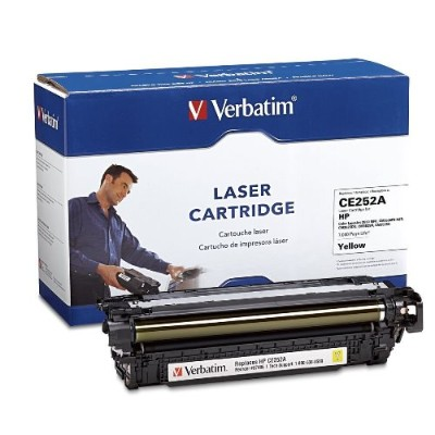 Verbatim 97486 Hp Ce252a Yellow Remanufactured Laser Toner Cartridge