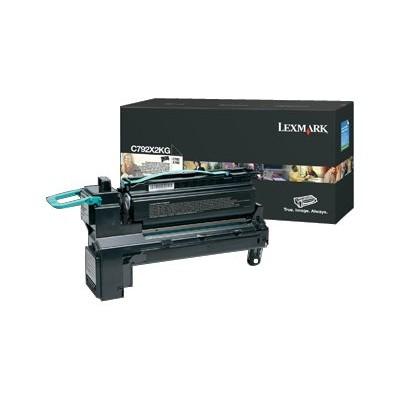 Lexmark C792X2KG Extra High Yield black original toner cartridge LCCP for C792de 792dhe 792dte 792e