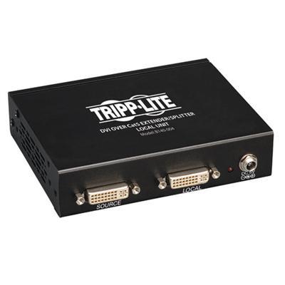 TrippLite B140-004 4-Port DVI over Cat5/Cat6 Extender Splitter  Video Transmitter  1920x1080 at 60Hz  Up to 200-ft.