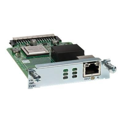 Cisco VWIC3-1MFT-T1/E1 Third-Generation Multiflex Trunk Voice/WAN Interface Card - Expansion module - EHWIC - T-1/E-1 - for  1921  1921 4-pair  1921 ADSL2+  192