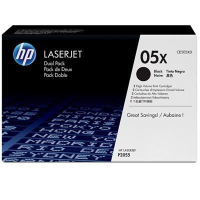 LaserJet CE505X Dual Pack Black Print Cartridges