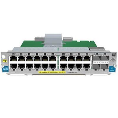 Hewlett Packard Enterprise J9536A Expansion module Gigabit Ethernet PoE x 20 10 Gigabit SFP x 2 2 x SFP for Aruba 5406 5412 8206 8212