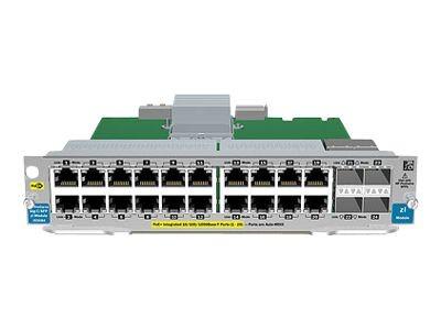 Hewlett Packard Enterprise J9535A 20 port Gig T PoE 4 port SFP v2 zl Module Expansion module Gigabit Ethernet PoE x 20 SFP mini GBIC x 4 4 x SFP