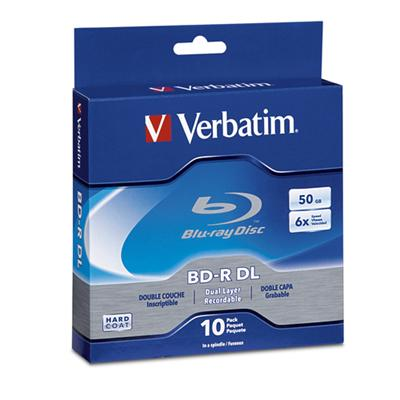 Verbatim 97335 Blu-Ray Recordable disc BD-R DL Double Layer 50GB 6X Spindle Box