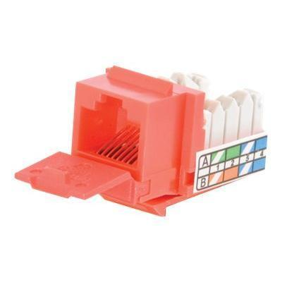 Cables To Go 35204 Modular insert - RJ-45 - red - 1 port