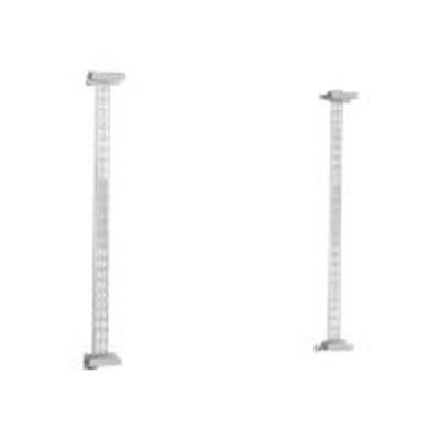 Peerless IWB600-UNIV Universal Whiteboard Mount IWB600-UNIV - Mounting kit ( clamp  hook bracket  2 fixed rails ) for interactive whiteboard - silver  powder co
