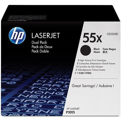 LaserJet CE255X Dual Pack Black Print Cartridges
